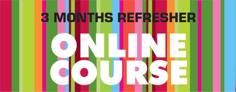3 months refresher online course